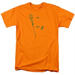 Image of Aquaman Shirt Faceless Orange T-Shirt