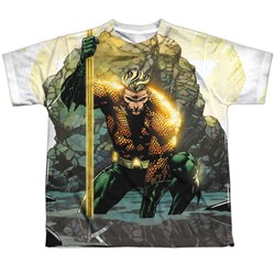 Image of Aquaman Shirt Good And Evil Sublimation Youth Shirt