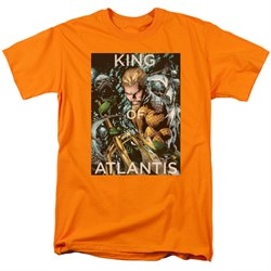 Image of Aquaman Shirt King Of Atlantis Orange T-Shirt