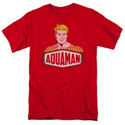 Image of Aquaman Shirt Sign Red T-Shirt