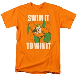 Image of Aquaman Shirt Swim It Orange T-Shirt