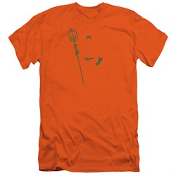 Image of Aquaman Slim Fit Shirt Faceless Orange T-Shirt
