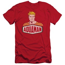 Image of Aquaman Slim Fit Shirt Sign Red T-Shirt