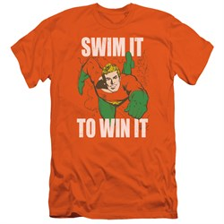 Image of Aquaman Slim Fit Shirt Swim It Orange T-Shirt