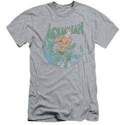 Aquaman Slim Fit Shirt Wave Athletic Heather T-Shirt