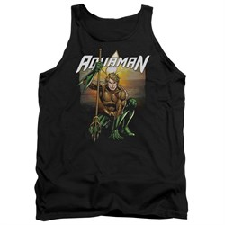 Image of Aquaman Tank Top Beach Sunset Black Tanktop