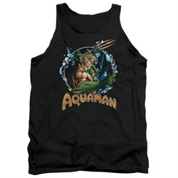 Image of Aquaman Tank Top Ruler Of The Seas Black Tanktop