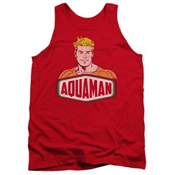 Image of Aquaman Tank Top Sign Red Tanktop
