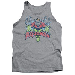 Image of Aquaman Tank Top Splish Splash Athletic Heather Tanktop