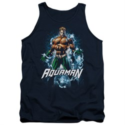 Image of Aquaman Tank Top Water Powers Navy Tanktop