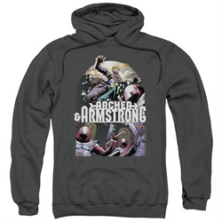Image of Archer & Armstrong Hoodie Dropping In Charcoal Sweatshirt Hoody