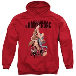 Image of Archer & Armstrong Hoodie Hang On Red Sweatshirt Hoody