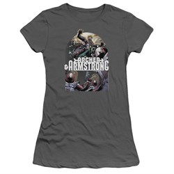 Image of Archer & Armstrong Juniors Shirt Dropping In Charcoal T-Shirt