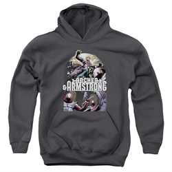 Archer & Armstrong Kids Hoodie Dropping In Charcoal Youth Hoody