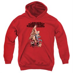Image of Archer & Armstrong Kids Hoodie Hang On Red Youth Hoody