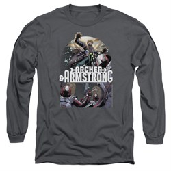 Image of Archer & Armstrong Long Sleeve Shirt Dropping In Charcoal Tee T-Shirt