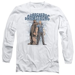Image of Archer & Armstrong Long Sleeve Shirt Stare Down White Tee T-Shirt