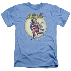 Image of Archer & Armstrong Shirt Carried Away Heather Light Blue T-Shirt