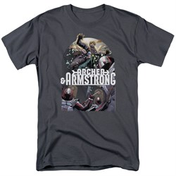 Image of Archer & Armstrong Shirt Dropping In Charcoal T-Shirt
