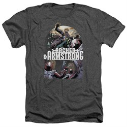 Image of Archer & Armstrong Shirt Dropping In Heather Charcoal T-Shirt