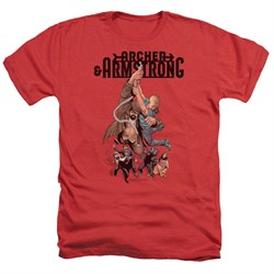 Image of Archer & Armstrong Shirt Hang On Heather Red T-Shirt