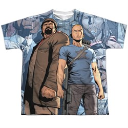 Image of Archer & Armstrong Shirt Heroes Sublimation Youth Shirt