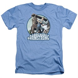 Image of Archer & Armstrong Shirt Smack Down Heather Light Blue T-Shirt