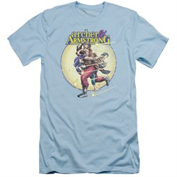 Image of Archer & Armstrong Slim Fit Shirt Carried Away Light Blue T-Shirt
