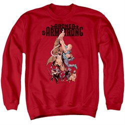Image of Archer & Armstrong Sweatshirt Hang On Adult Red Sweat Shirt