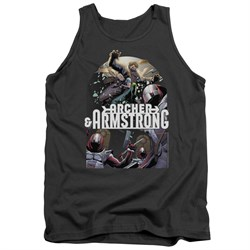 Image of Archer & Armstrong Tank Top Dropping In Charcoal Tanktop