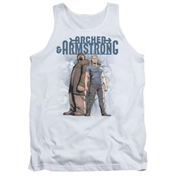 Image of Archer & Armstrong Tank Top Stare Down White Tanktop