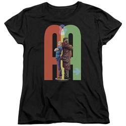 Image of Archer & Armstrong Womens Shirt Back To Back Black T-Shirt