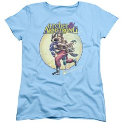 Image of Archer & Armstrong Womens Shirt Carried Away Light Blue T-Shirt