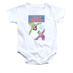 Image of Archie Baby Romper Snow Angel White Infant Babies Creeper