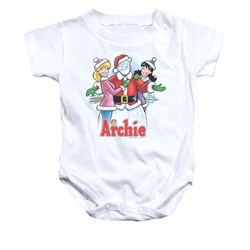 Image of Archie Baby Romper Snowman Fall White Infant Babies Creeper