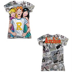 Image of Archie Comic Shirt With The Girls Sublimation Juniors Shirt Front/Back Print