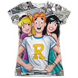 Image of Archie Comic Shirt With The Girls Sublimation Juniors Shirt