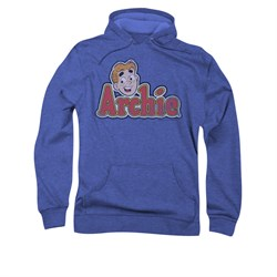Image of Archie Hoodie Distressed Logo Royal Blue Sweatshirt Hoody