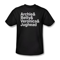 Image of Archie Shirt Ampersand List Black T-Shirt