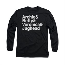 Image of Archie Shirt Ampersand List Long Sleeve Black Tee T-Shirt