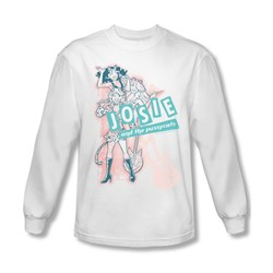 Image of Archie Shirt Glam Rockers Long Sleeve White Tee T-Shirt