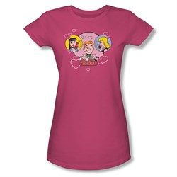 Image of Archie Shirt Juniors Angry Girls Hot Pink T-Shirt