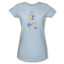 Image of Archie Shirt Juniors Character Heads Light Blue T-Shirt