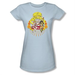 Image of Archie Shirt Juniors Groovy Rock And Roll Light Blue T-Shirt