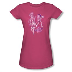 Image of Archie Shirt Juniors Pussycat Time Hot Pink T-Shirt