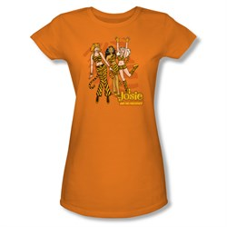 Archie Shirt Juniors Tiger Stripes Orange T-Shirt