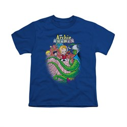 Image of Archie Shirt Kids Alien Royal Blue T-Shirt