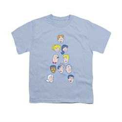 Image of Archie Shirt Kids Character Heads Light Blue T-Shirt