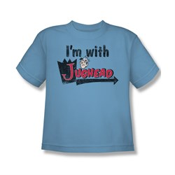 Image of Archie Shirt Kids I'm With Jughead Carolina Blue T-Shirt