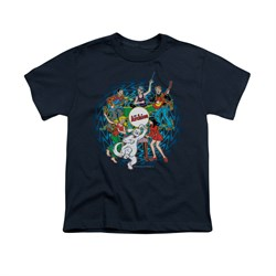 Image of Archie Shirt Kids Psychedelic Navy T-Shirt